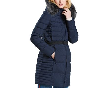 Quilted Hooded Long Jacket
