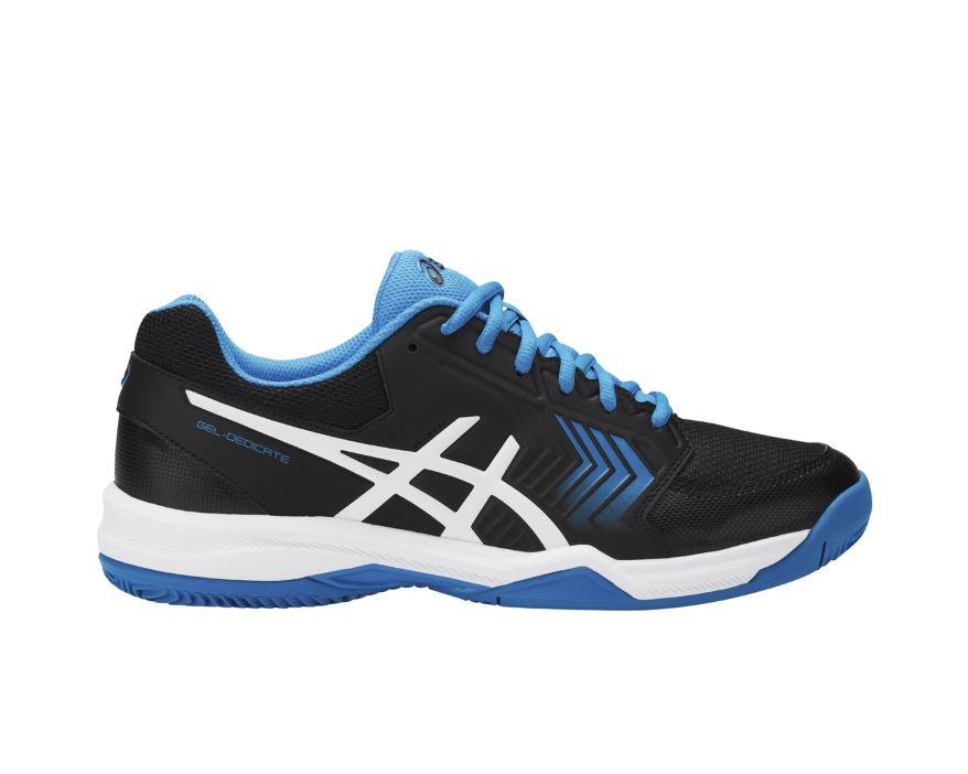 Asics Siyah Erkek Tenis Ayakkabısı E708Y-9041 Gel-Dedicate 5 Clay
